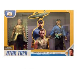 STAR TREK PACK 2 FIGURINES MEGO MIRROR UNIVERSE SPOCK & KIRK 20 CM