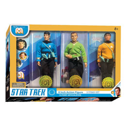 STAR TREK PACK 3 FIGURINES SPOCK, KIRK & CHEKOV 20 CM