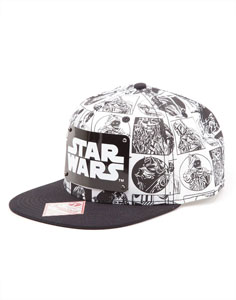 Photo du produit STAR WARS CASQUETTE HIP HOP SNAP BACK COMIC STYLE Photo 1