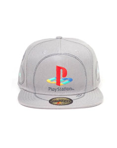 SONY PLAYSTATION CASQUETTE HIP HOP SNAP BACK SILVER LOGO