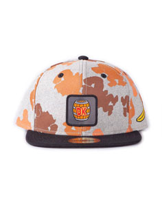NINTENDO CASQUETTE SNAPBACK DONKEY KONG ALL OVER PRINT