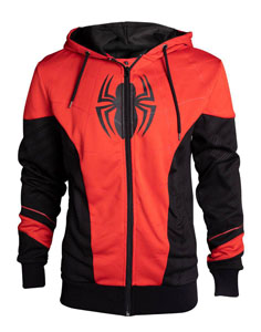 SPIDER-MAN SWEATER À CAPUCHE RED & BLACK OUTFIT