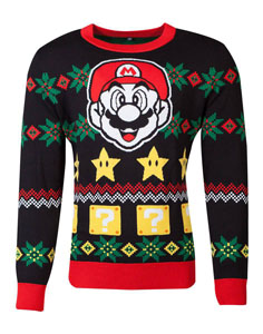 NINTENDO SWEATER CHRISTMAS SUPER MARIO NIGHT