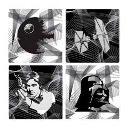 PACK 4 ASSIETTES STAR WARS INTERGALACTIC