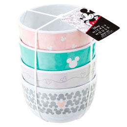 DISNEY PACK 4 BOLS MICKEY PASTEL