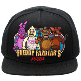 FIVE NIGHTS AT FREDDY'S CASQUETTE HIP HOP FREDDY FAZBEAR'S PIZZA