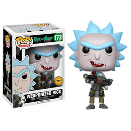 FUNKO POP RICK AND MORTY WEAPONIZED RICK VERSION EXCLUSIVE CHASE