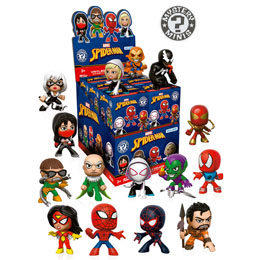 12 MYSTERY MINIS MARVEL SPIDERMAN VARIANT 1 + PRESENTOIR