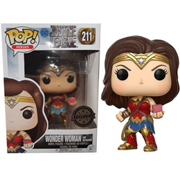 JUSTICE LEAGUE FUNKO POP! MOVIES WONDER WOMAN WITH MOTHER BOX EXCLUSIVE