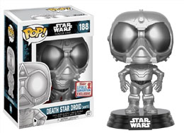 STAR WARS ROGUE ONE FUNKO POP DEATH STAR DROID (WHITE) 2017 FALL CON EX (Emballage endommagé)