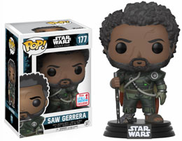 FUNKO POP STAR WARS: ROGUE ONE: SAW GERRERA WITH HAIR NYCC 2017 EXCLU