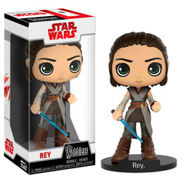 STAR WARS EPISODE VIII WACKY WOBBLER BOBBLE HEAD REY 15 CM