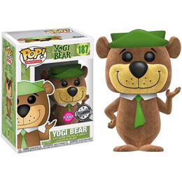 FUNKO POP HANNA BARBERA YOGI BEAR FLOCKED EXCLUSIVE