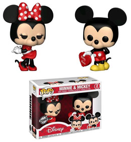 PACK 2 FUNKO POP DISNEY VALENTINE MICKEY & MINNIE