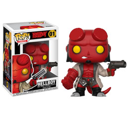 HELLBOY FIGURINE FUNKO POP HELLBOY (EMBALLAGE ENDOMMAGE)