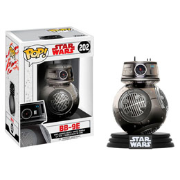 FIGURINE FUNKO POP STAR WARS THE LAST JEDI BB-9E CHROME EXCLUSIVE