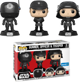 PACK 3 FUNKO POP! STAR WARS GUNNER OFFICER & TROOPER EXCLUSIVE