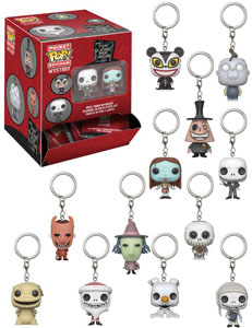 L´ETRANGE NOEL DE MR. JACK 24 PORTE-CLES POCKET POP! + PRESENTOIR