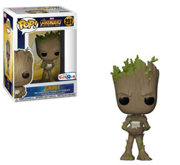 MARVEL AVENGERS INFINITY WAR FUNKO POP TEEN GROOT WITH VIDEO GAME