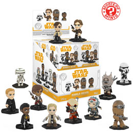 MYSTERY MINI STAR WARS SOLO 12 FIGURINES + PRESENTOIR