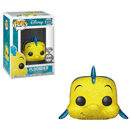 DISNEY LA PETITE SIRENE FUNKO POP FLOUNDER (DIAMOND GLITTER) EXCLUSIVE
