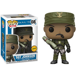 FUNKO POP HALO SGT. JOHNSON VERSION CHASE EXCLUSIVE