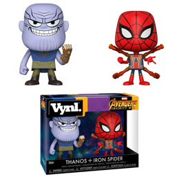 FIGURINES FUNKO VYNL MARVEL AVENGERS INFINITY WAR THANOS & IRON SPIDER
