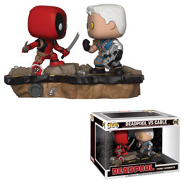 DEADPOOL PACK 2 FUNKO POP MOVIE MOMENTS DEADPOOL VS. CABLE 9 CM