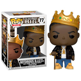 FIGURINE FUNKO POP NOTORIOUS B.I.G. WITH CROWN