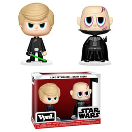 STAR WARS PACK 2 VYNL VINYL FIGURINES DARTH VADER & LUKE SKYWALKER