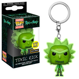 PORTE CLE POCKET POP RICK & MORTY TOXIC RICK EXCLUSIVE GITD