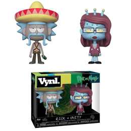 RICK ET MORTY PACK 2 VYNL VINYL FIGURINES RICK & UNITY