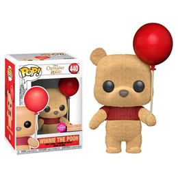 FUNKO POP DISNEY WINNIE POOH WITH RED BALLOON FLOCKED EXCLUSIVE