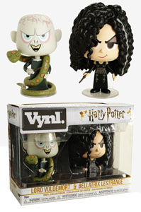 HARRY POTTER PACK 2 VYNL VINYL FIGURINES BELLATRIX & VOLDEMORT