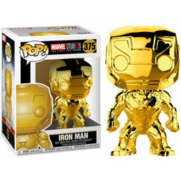 FUNKO POP MARVEL STUDIOS 10 IRON MAN GOLD CHROME
