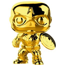 FUNKO POP MARVEL STUDIOS 10 CAPITAN AMERICA GOLD CHROME