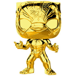 FUNKO POP MARVEL STUDIOS 10 BLACK PANTHER GOLD CHROME