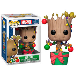 FIGURINE FUNKO POP MARVEL HOLIDAY GROOT WITH LIGHTS & ORNAMENTS