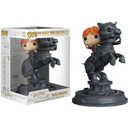 FIGURINE FUNKO POP MOVIE MOMENTS HARRY POTTER RON RIDING CHESS PIECE