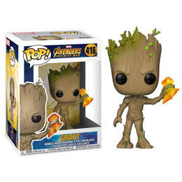 FIGURINE FUNKO POP AVENGERS INFINITY WAR GROOT WITH STORMBREAKER 9 CM