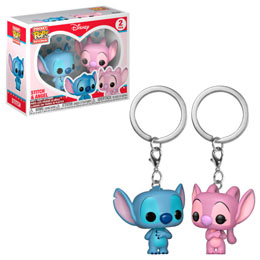 PACK PORTE CLÉ POCKET POP DISNEY STITCH & ANGEL