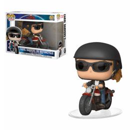 CAPTAIN MARVEL POP! RIDES CAROL DANVERS ON MOTORCYCLE 15 CM