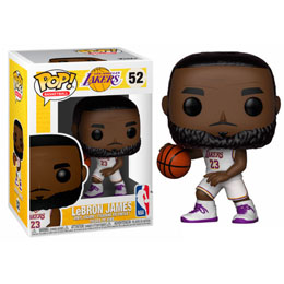 FIGURINE FUNKO POP NBA LAKERS LEBRON JAMES WHITE UNIFORM