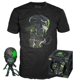 ALIEN POP! & TEE SET FIGURINE ET T-SHIRT 40TH XENOMORPH EXCLUSIVE