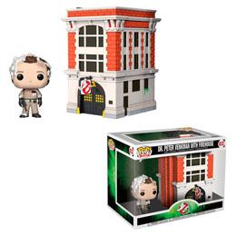 SOS FANTÔMES POP! TOWN VINYL FIGURINE DR. PETER VENKMAN & HOUSE 9 CM