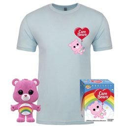 BISOUNOURS POP! & TEE SET FIGURINE ET T-SHIRT CHEER BEAR EXCLUSIVE