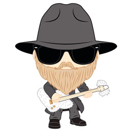 LONDON TOY FAIR FUNKO POP ZZ TOP DUSTY HILL