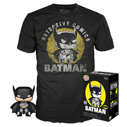 DC COMICS POP! & TEE SET FIGURINE ET T-SHIRT BATMAN SUN FADED EXCLUSIVE
