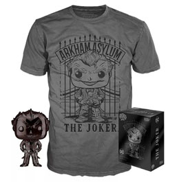 DC COMICS POP! & TEE SET FIGURINE ET T-SHIRT THE JOKER EXCLUSIVE