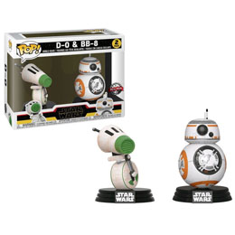 PACK 2 FUNKO POP STAR WARS RISE OF SKYWALKER D-O AND BB-8 EXCLUSIVE